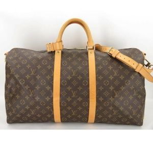 100% AUTH LOUIS VUITTON MONOGRAM KEEPALL 55